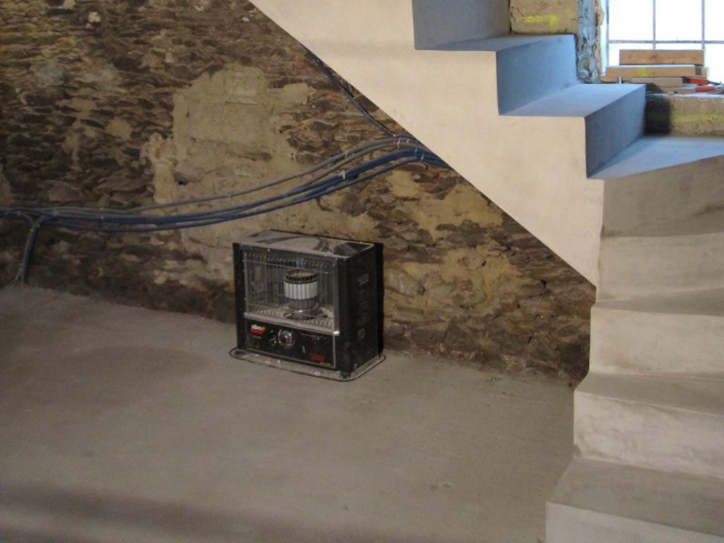 Creation D Une Tremie Escalier trémies d escaliers rennes réalisation création maçon béton