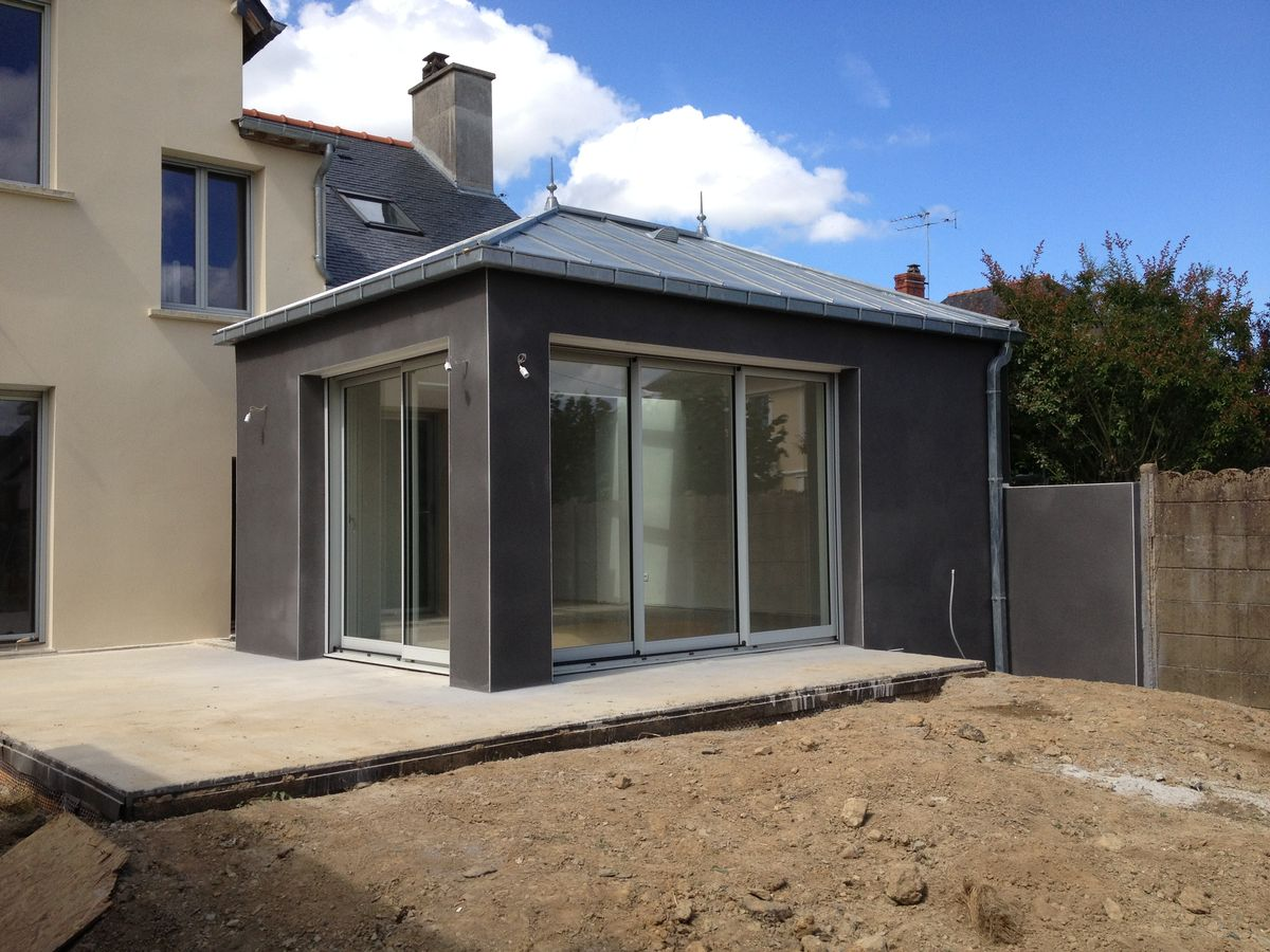 Extensions agrandissements maisons rennes ma onnerie ma on for Extension maison parpaing